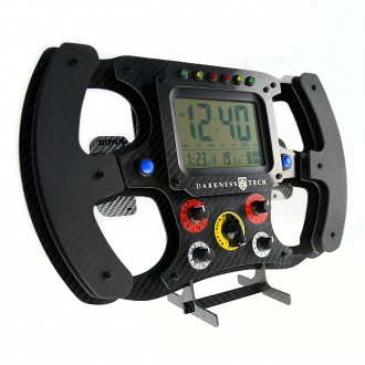 Decorative carbon fibre steering wheel wall clock